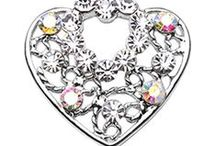 Heart Belly Rings / You'll love these Wicked Heart Belly Rings