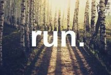 Running / You can't train for a race by thinking about it, you have to put in the miles.