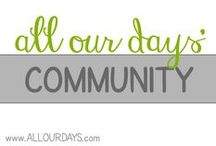 All Our Days Community / All Our Days group board. Let's inspire and encourage each other by sharing our family friendly posts about faith, parenting, marriage, crafts, decorating, health, recipes, books, homeschooling, and more.   Want to join? Follow my boards then send me an email at allourdaysmail @ gmail . com with your Pinterest link.   Bloggers, please repin one pin from this board for every post you link up. Maximum of 5 pins per day! Thanks for sharing and encouraging each other!