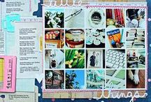"""Scrapbooking - """"The In Crowd""""... / these are pages that caught my eye - they're gorgeous and trendy, but... not quite """"me""""..."""