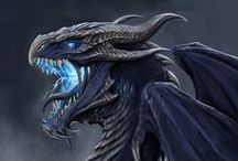 Dragons / Dragon art and graphics, inspiration, mythological creatures