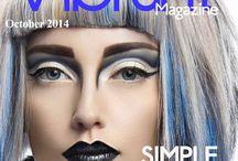 Vibrant magazine covers