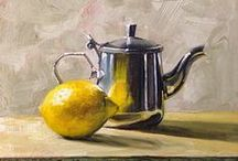 Paintings, Still Life / Small Paintings, Still Life.....supplies, techniques / by Linda Spang