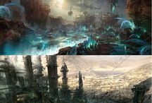 Environment concepts / Inspiration for environment design, game design