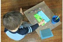 Insight & Inspiration On Being A Creative Mama / Tot school, homeschool.