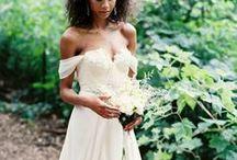 Black Boho Bride & tropical Wedding