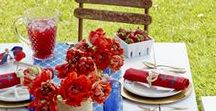 Patriotic Parties / Red White and Blue! Memorial Day, Fourth of July, Labor Day All American Holidays Decor and party inspiration USA!