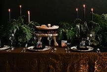 The Black Forest / Decor and meal inspiration for a Black Forest themed wine gala. The cuisine features modern twists on german fare, with a dark, almost magical vibe.
