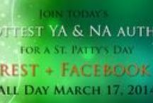 St. Patrick's Day Pinning Party / Join your favorite authors of YA and NA as we celebrate being Irish for a day and play on Pinterest. There'll be over 40 book giveaways and a special St Patrick's Day goodie basket up for grabs! https://www.facebook.com/events/257037844469723/