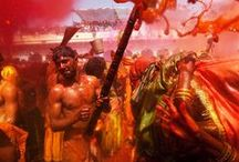 Holi - Festival of Colours  / Holi, a #festival of colours that is celebrated to welcome #spring time. Though it is well known as an #Indian Festival, in recent times it has shown it's popularity in Europe and America as a celebration of love, frolic and colours.