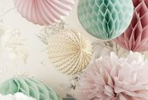 Pom poms, Lanterns and Luminarias / Chinese lanterns, Marrakech lanterns, pom poms and Luminarias perfect for adding a touch of charm to any wedding.