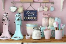 Vintage Pink Kitchen