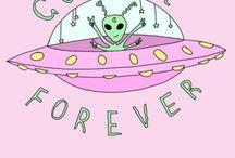 Peace sign emoji, Alien emoji / ✌️ Dope tie dye pizza aliens on skate boards