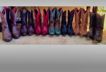 "Boot Scootin'  / My cowgirl boot obsession ""If the boot fits but every color."" / by Jamie Barnes"