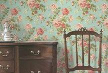 Vintage Wallpaper Designs / Late 19th and early 20th century wallpaper designs. My style.