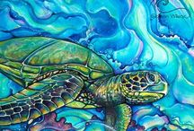 Colleen Wilcox Artwork / Acrylic on canvas paintings & products by Colleen Wilcox. Inspired by living in Hawaii, the ocean, flowers, surf & aloha!