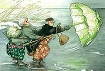 Art by Inge Löök / Inge Löök (Ingeborg Lievonen, Helsinki 1951-) is Finnish artist, illustrator and gardner. She have illustrated over 300 postgards, many children's books and magazines. Grannies we born in 2003 and up today there is 43 pictures of these lovable old ladies.