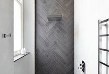 Bathroom: So Fresh and so Clean / Bathroom design, layout, materials, patterns, and furniture - with a modern, mid-century, Scandinavian, or minimal design.