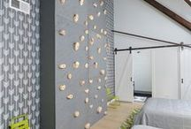 Bedroom: Kids must play / Children's bedroom design, layout, materials, patterns, and furniture - with a modern, mid-century, Scandinavian, or minimal design.