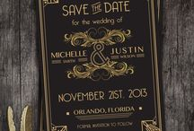 Wedding Stationary / Invites   menus   save the date cards   thank you notes   Wedding suite inspiration   design   Invitations / by Dazy Graves