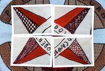 Scottish Diaspora Tapestry / Scottish tapestry / Paineis de ambas as tapeçarias,  uns fotografei outros guardei das minhas pesquisas.  Bordei o de Lisboa junto com outras bordadeiras.