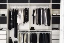 Closets: Wardrobe Malfunction / Closet and wardrobe design, layout, materials, patterns, and furniture - with a modern, mid-century, Scandinavian, or minimal design.