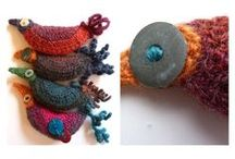 Crocheted & knitted Jewellery / Exciting jewellery with knitted or crocheted elements, / by Angie Thompson