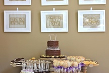 Delicious Dessert Displays / Lovely wedding cakes and dessert displays.
