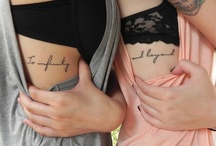 tattoos. / by Alison Groff