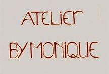 """Atelier """"BY MONIQUE"""" / eigen werk, en werk van workshopdeelnemers, volg het Atelier ook op www.facebook.com/AtelierBYMONIQUE"""