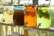 Drink ♡ Dispensers & Drink Stations / Glazen pot met kraantje, beverage dispenser