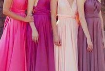 Madrinhas / Queridas irmãs de coração... estas imagens são as referências para as cores dos vestidos do casório. Não há problema em repetir tons. Mas, qual é a cor? Rosa, salmão, rosê, nude, lilás, púrpura, uva, magenta, pêssego, cereja e todos esses tons que estão aqui :) Muito obrigada pela disposição de vocês!!! As imagens são referência apenas para as cores. Os modelos e tecidos ficam a critério de cada uma, só peço o longo, para ficar mais uniforme.