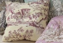 The gift of TOILE / You need to have something with toile in your home...even if it's a pillow. My curtains in the dining room are made with a brown toile. / by Delsie