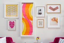 Small Wall / Small art grouped together. Love the look!