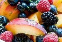 FRESH & FRUITY SALADS / VARIETY OF TASTY AND PRETTY FRUIT SALADS / by Carole Harrison