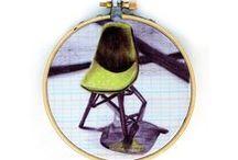 Hoop Art / Art displayed in an embroidery hoop.