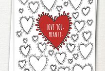 Be my Valentine / Valentine's Day cards to send to your sweetest.