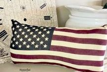 Holiday - Patriotic Ideas / DIY and crafts to feature the red, white, and blue. #Memorial Day #July 4th