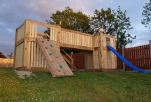 Pallets 4) Playhouse, swings, Forts, etc. / by Barb Hughes
