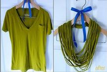 T Shirts Reinvented / and some knotting examples  (pin all you like) / by Cassie Steffen