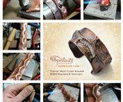 Learn Fold Forming / Learn Fold Forming, metal folding tutorials, texturing metal, hammering.