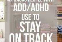 ADD and ADHD / An informative board about ADD and ADHD