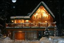 Favorite Cozy Christmas Vacation Homes / With the holiday season upon us, we've compiled some of our favorite cozy vacation homes that offer the festive spirit. / by Owner Direct Vacation Rentals
