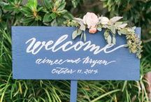 Wedding Signs / Signs to use at weddings
