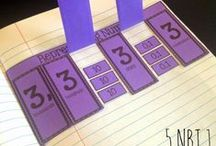 Math - Place Value / Place Value in Kindergarten, 1st grade, 2nd grade.  Place Value charts, activities, games, task cards