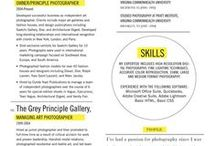 Resume Ideas / Resume design ideas for the creatives and future professionals.