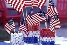 Party like a Patriot / Memorial Day/Fourth of July Decor, DIY & Food