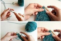 Knitting and Crochet / Basics of knitting and crochet - how to start and basic stitches