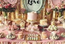 "Wedding Dessert Buffets and Candy Bars / Ideas for setting up elegant and creative wedding dessert buffets and candy bars that will ""Wow"" guests."