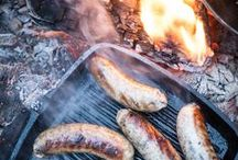 Cooking with Fire / We love cooking outside, surrounded by nature. There is nothing more simple and rewarding then cooking over flames. You can order award winning BBQ meat from www.pipersfarm.com